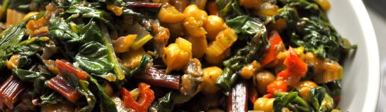 Chickpea soup with chard